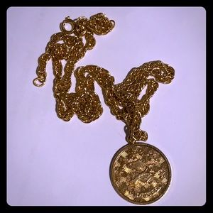 Vintage Sarah Coventry gold Pisces necklace